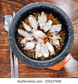 The rice with abalone