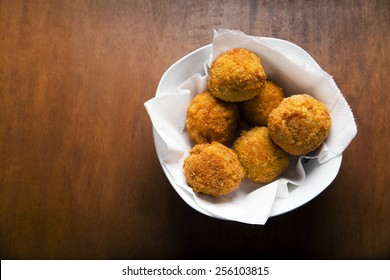 rice balls arancini. italian starter