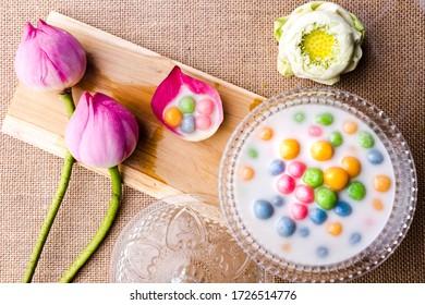 Rice Balls in Coconut Milk  (bua loy)