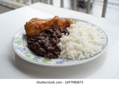 rice and beans with chicken