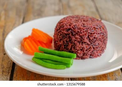 Rice berry on dish