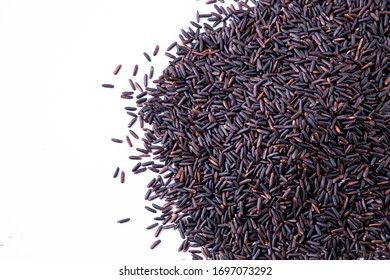 Rice berry,Thailand isolate on white background.