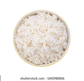 Rice in a bow isolatedl on white background