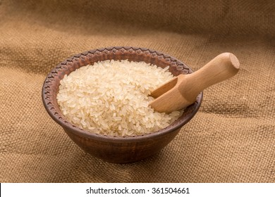 rice in a bowl with darevyannym kitchen equipment