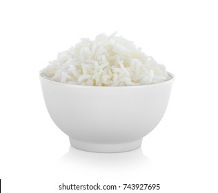 rice bowl on white background