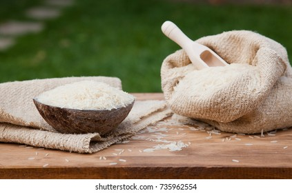 rice bowl on wooden table