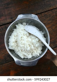 Rice bowl in stainless steel.