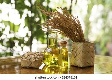 Rice bran oil.