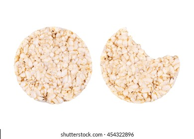 rice cake isolated on white