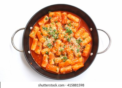 Rice cake korean food isolated