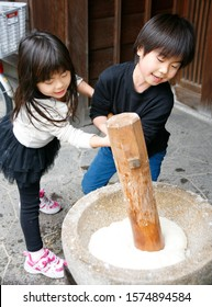 Rice cake making of the year-end event of Japan