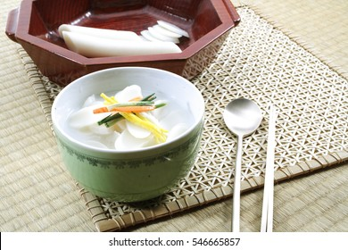 rice cake soup , korean food