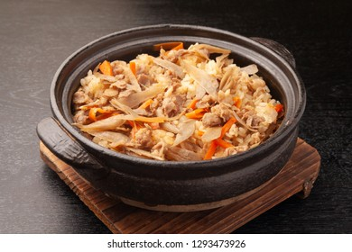 Rice cooked beef and burdock