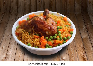 Rice dish and chicken