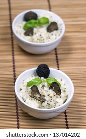 Rice with fresh truffle