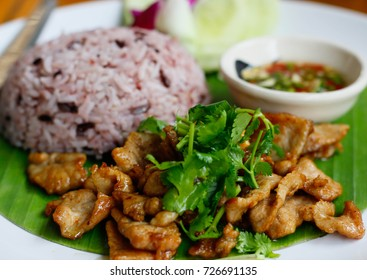 rice and fried pork