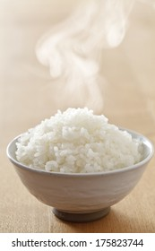 Rice hot freshly cooked