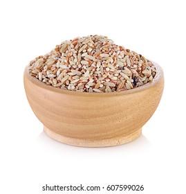 Rice isolated on white background.