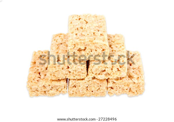 Rice marshmallow squares stacked