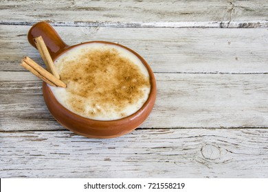 Rice with milk and cinnamon.