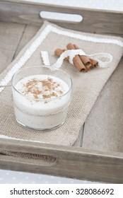 rice milk pudding and cinnamon, dessert