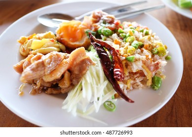 Rice mixed with shrimp paste. Thailand. Shrimp paste or shrimp sauce, is a common ingredient used in Southeast Asian and Southern Chinese cuisine.