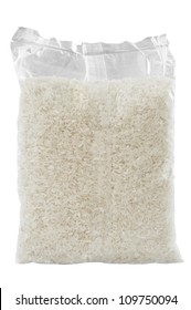 Rice pack isolated over white background