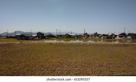 Rice Paddy in rural Japan