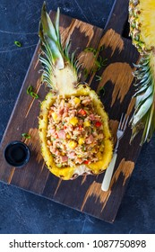 Rice with pineapple