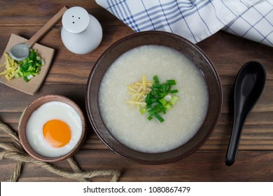 rice porridge Breakfast flat lay