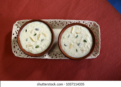 Rice Pudding or Rice Kheer or Fereni, Indian Dessert