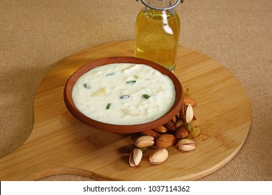Rice Pudding or Rice Kheer or Fereni, Indian Dessert
