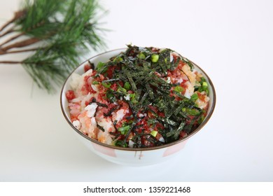 Rice with raw beef