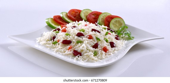 Rice with Red Kidney Beans (Lobia Rice)
