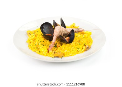 rice with saffron mussels and prawns