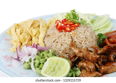 Rice Seasoned with Shrimp Paste.Thaifood.