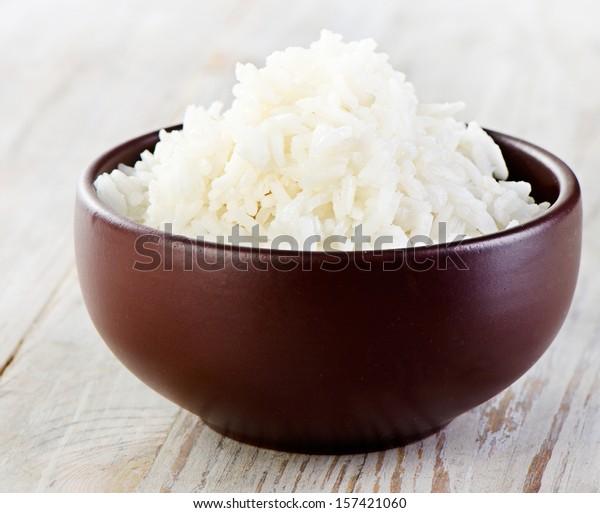 Rice . Selective focus