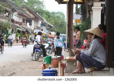 Rice Seller in Laos