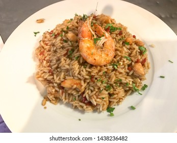 Rice with shrimp, squid and octopus