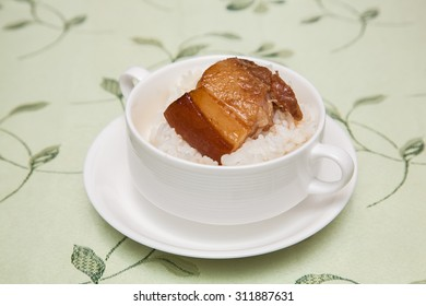 rice with slow braised pork belly