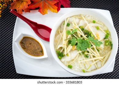 Rice soup with fish