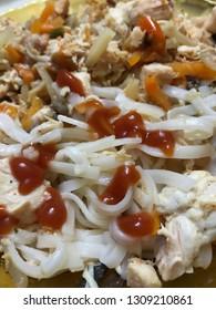 Rice spaghetti, pasta