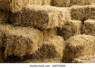 rice straw bales