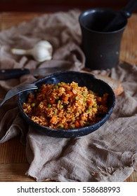 rice with tomatoes and vegetables