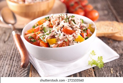 rice and vegetable