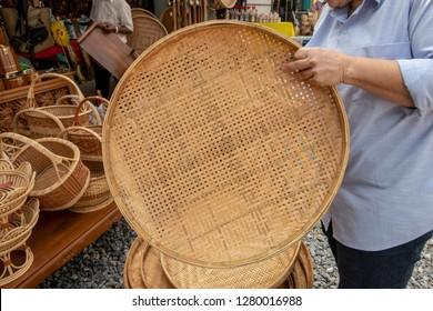 rice winnowing basket ; treshing basket