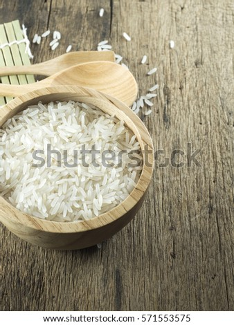 Rice Wooden Bowl Spoon Sushi Roller Stock Photo Edit Now 571553575