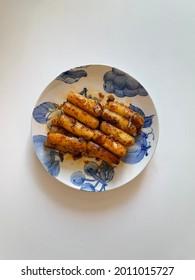 Ricecake with chili Oil (Gireum Tteok-bokki)