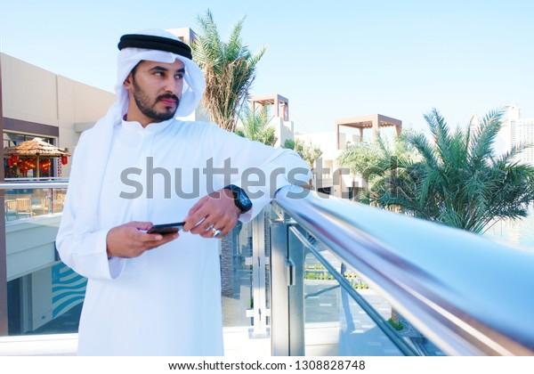 Rich arab man with girl