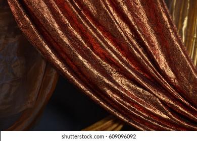 rich Arabic fabric background, fabric with arabic ornament